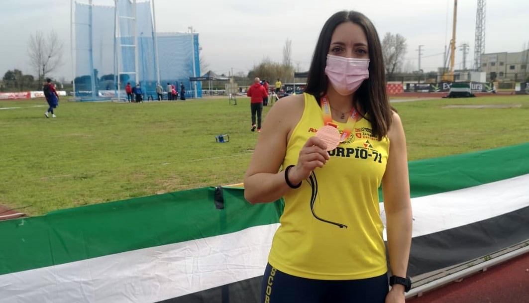 Inés Venero, bronce en disco en el XI Campeonato de España de lanzamientos largos de invierno
