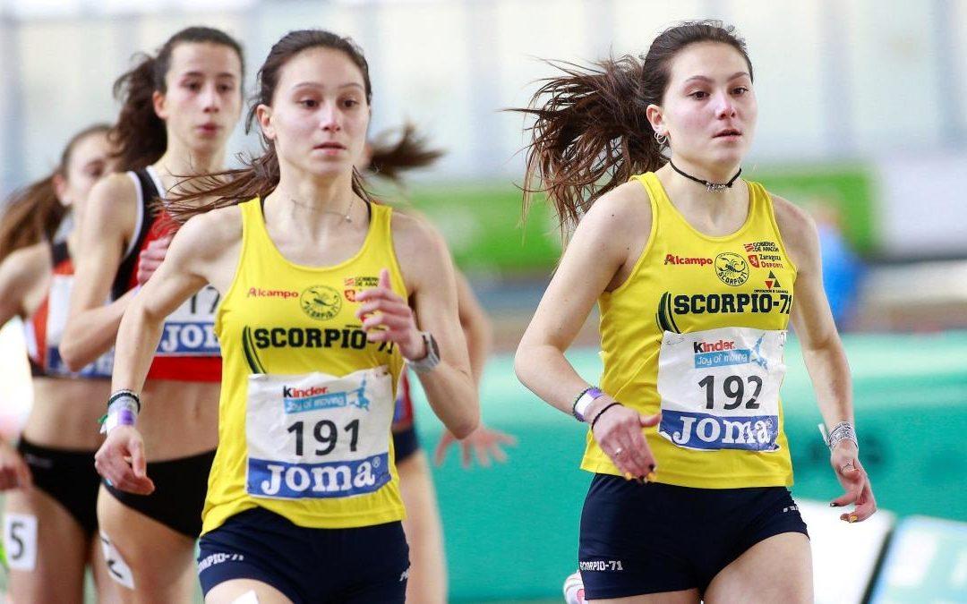 Las hermanas Inés y Mara Saura consiguen el oro y la plata en el 600 m del nacional Sub16