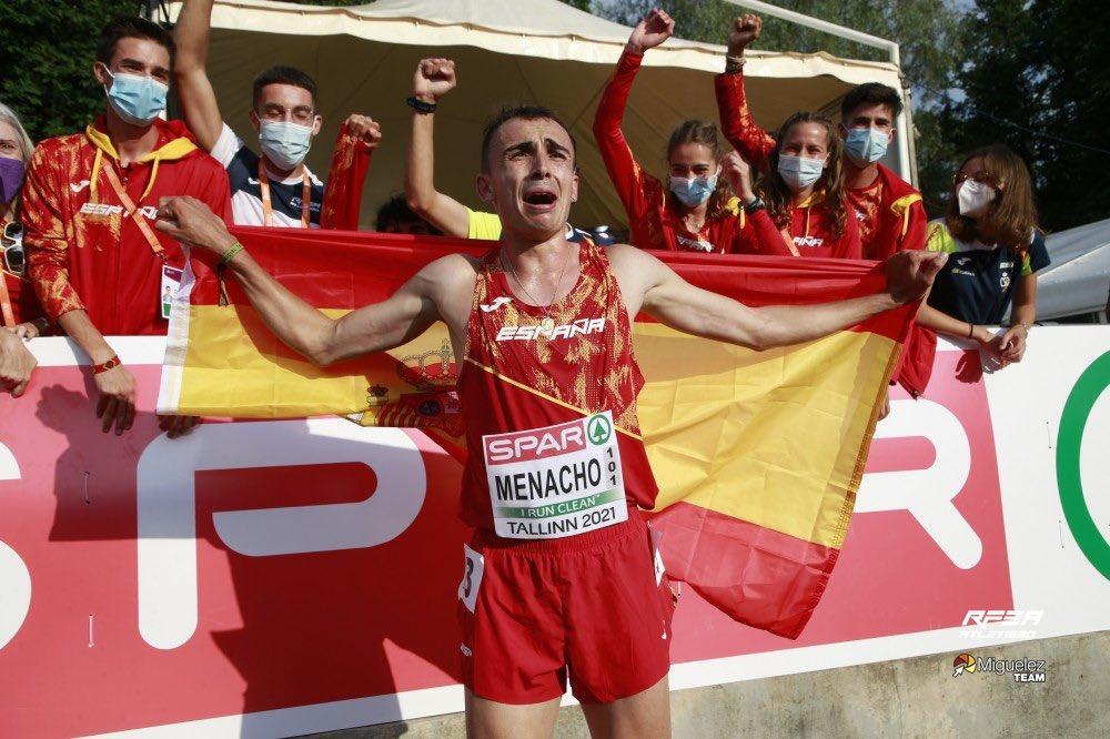 Eduardo Menacho campeón de Europa Sub23 en los 10.000 metros