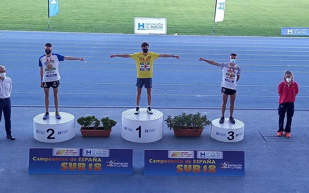 Sergio del Barrio campeón de España Sub18 y récord de España en los 2.000 metros obstáculos