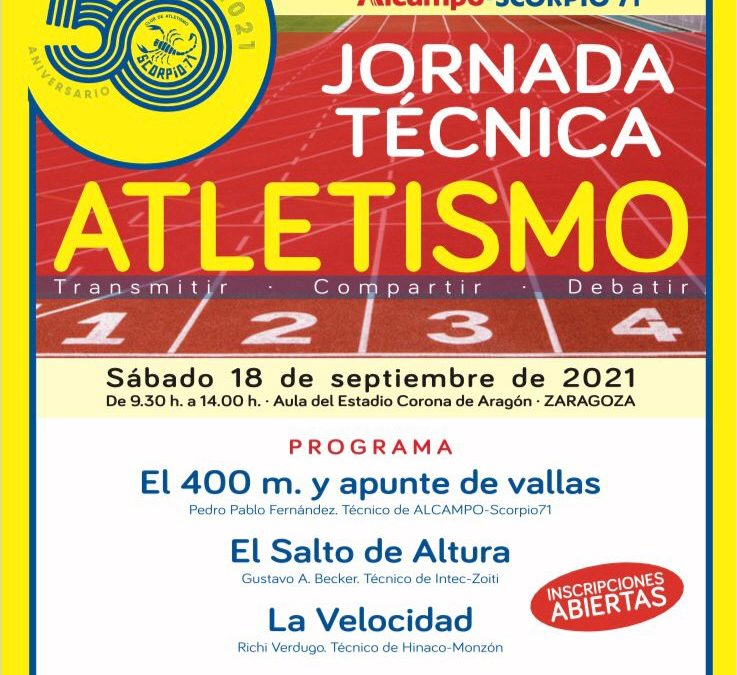 Cartel de la Jornada Técnica Atletismo 2021