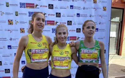 ALCAMPO-Scorpio71 gana 4 oros en el Campeonato de Aragón de Media Maratón