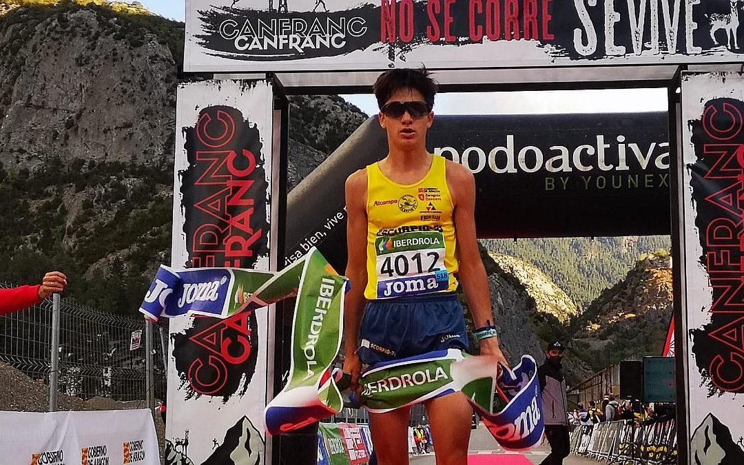 Sergio del Barrio se corona campeón de España de trail running Sub18